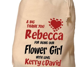 Personalised Flower Girl Gift Bag - Various Sizes Available Rebecca Design