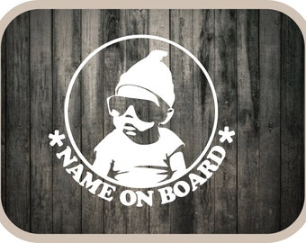Custom Name Baby On Board Car Decal - The Hangover Movie