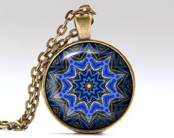 Mandala jewelry Geometry pendant Bohemian necklace OWA685