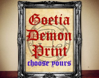 1 of 72 GOETIA DEMON SEAL print, Goetia sigil poster, Lemegeton demon art, Lesser Key, occult pentacle ritual, summoning demons canvas #104