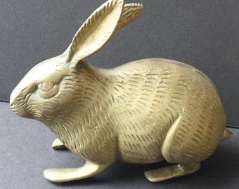 Brass Bunny Rabbit Figurine