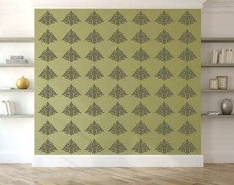 Damask Wall Stencil, Wall Art Stencil  in reusable Mylar, wall art, small to large stencils up to 19.5 x 27.5 inches.