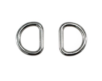 2 pieces Silver plated D-Ring 22mm (inner diameter) for Purse Chain Strap d-ring, Purse Findings, Keychain, Purse Ring