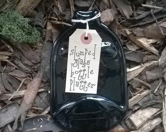 Kiln slumped 'Bundaberg Root Beer' bottle platter.