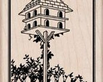 """Hero Arts """"Tall Birdhouse"""" - Rubber stamps"""