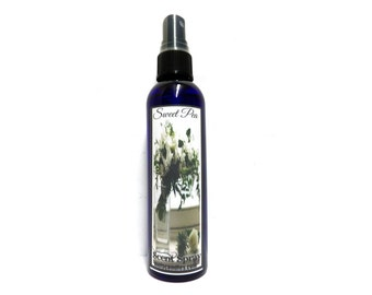 Peony 4oz Blue Bottle of Scent Spray, Body Spray, Room Spray