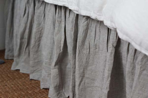 Up for sale is a NEW Restoration Hardware Stonewashed Linen Twin Bed Skirt % Linen. Size:Twin (37