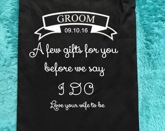 Groom gift, groom gift bag, groomsmen gift, groomsmen gift bag,groom boxers , groom socks,groom, father of the bride , page boy