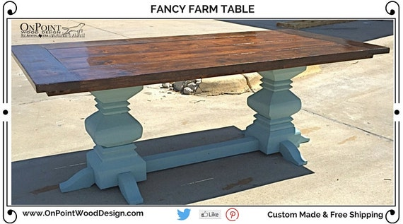 Fancy Farm Table By OnPointWoodDesign On Etsy