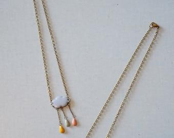 pastel necklace cloud glazed