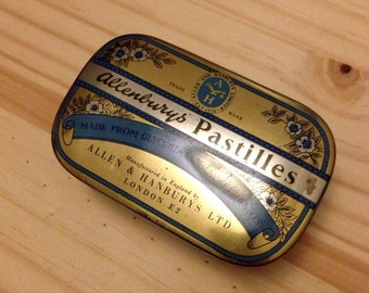 Vintage Allenby's Tin Gold and Blue Ringbearer Box
