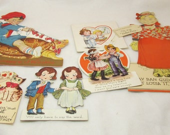 Lot of 6 Vintage Valentine Cards, Collectibles. 125-555.*FREE SHIPPING*