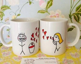 Couple Mugs - A Bucketful of Love