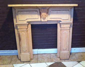 Antique Farmhouse Fireplace Mantel Mantle Stripped to bare wood you choose stain/paint color We will do work 1900