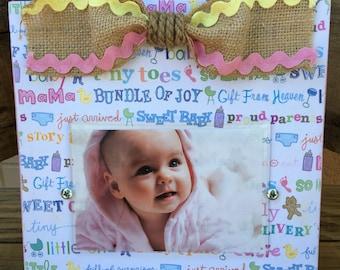 "Baby girl ""sweet sayings"" photo frame"
