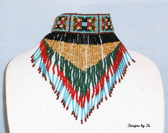 CHEROKEE FRINGE NECKLACE with Earrings