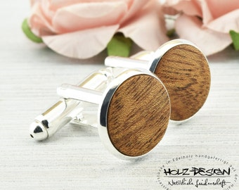 Real Wood Cuff Links Mens Jewelry for rustic country wedding Gift for man Wood handmade