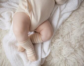 Organic Cotton Baby Socks, Organic Baby Socks, Baby Girl Socks, Baby Boy Socks, Cute Organic Socks, Baby Socks, Super Soft, 3-6Months