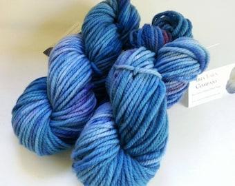 Hand Dyed Yarn, Hand Painted Yarn, Bulky Weight, 100% Superwash Merino Wool, Blue Purple Red