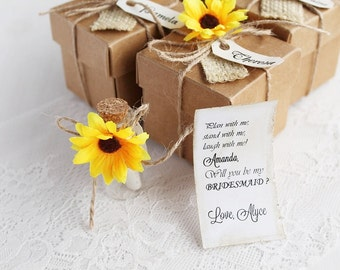 Rustic Bridesmaid Invitation, Bridesmaid Proposal Gift, Asking Bridesmaids, Ask Maid of Honor, Message in a Bottle, Bridesmaid invitation