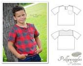 "Cotton Shirt Pattern - ""Benjamin Tyler"" - No Buttons - 1-10Y PDF"
