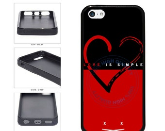 Love Is Simple Phone Case - iPhone 4 4s 5 5s 5c 6 6 Plus 7 iPod Touch