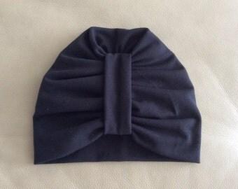 Black Beanie Hat, Turban Beanie,  Baby Beanie Hat, Girls, Toddler