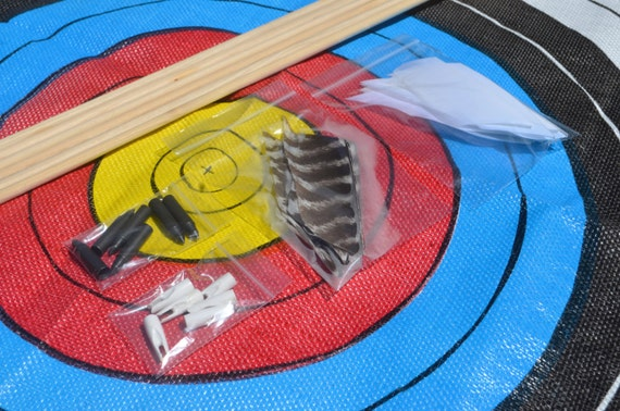 Custom order for Michael, Archery arrow diy kit, Birch shafts, build your own arrows