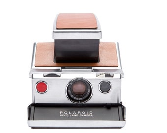 Restored Polaroid SX-70 Original Leather & Chrome SLR Folding Camera w/ 90 Day Warranty