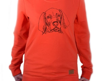 Women long sleeve, blouse with dog - Weimaraner puppy NEW Collection!