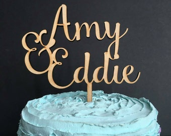 Personalized Cake Topper, first name cake topper, cake topper wedding, rose gold cake topper, custom cake topper, custom wedding cake topper