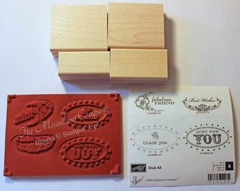 Oval All Stamp Set (retired Stampin' Up!)