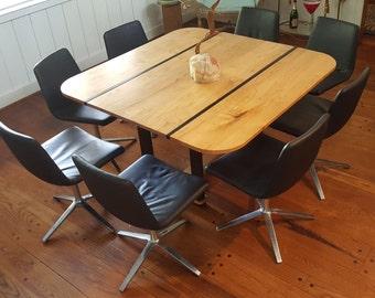 Set of 8 B&B Italia Cosmo 4 Star Swivel Chairs