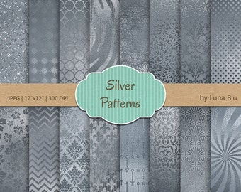 "Silver Foil Digital Paper: ""Silver foil Patterns"" Silver digital paper, Silver Foil Paper, Silver Backgrounds, Silver textures"