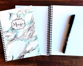 Personalized marble notebook / Monogram Notebook / elegant Marble notebook / Marble journal / Personalized journal note book