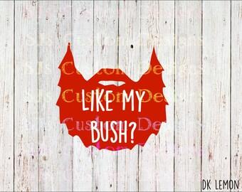 Like my bush Beard decal, Beard Decal, Beard Silhouette, Guy Car Decal, Beard Decal, Manly Decal, Bush Beard decal, Bush Decal, guy decal