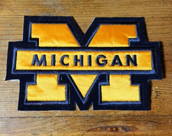 Vintage University of Michigan Wolverines Embroidered  Patch 5 1/2'' X 3 1/2''