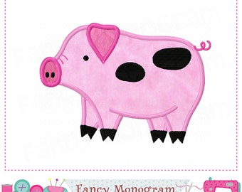 Pig applique,Piggy applique,Pig embroidery,Pig design,Farm animal,Piggy applique,Farm animal applique,Pig,Farm animal.-02