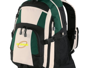 Personalized Backpack Embroidered Back Pack Custom Backpack - Sports - Football - BG77