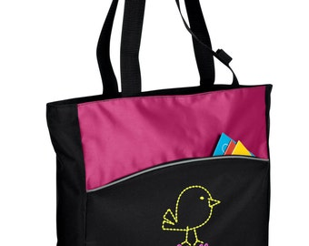Personalized Tote Bag Embroidered Tote Bag Custom Tote Bag - Sports - Bird - B1510