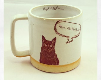 Shalom's Cup- Black Cat coffee Mug