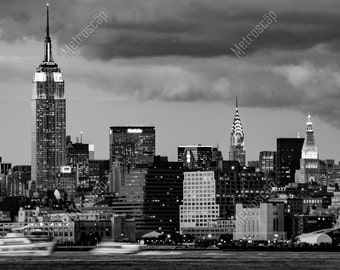 Black and White, New York City Photography, Midtown Manhattan Skyline, Fine Art Photography, NYC Pictures, Midtown Manhattan