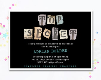 Top secret invites | Etsy