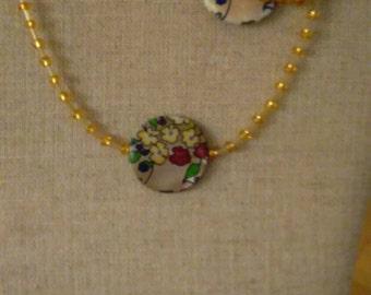 Flower golden sands necklace & bracelet set