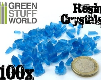 BLUE Resin Crystals - for Miniature Bases Warhammer Model Scenery Landscape