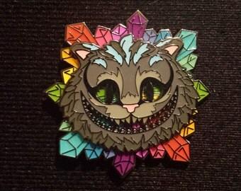 Cheshire Cat Spinner Pin