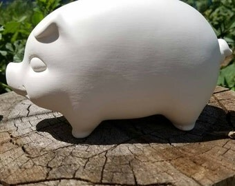 Blank New Vintage Style Piggy Bank - No hole in the bottom