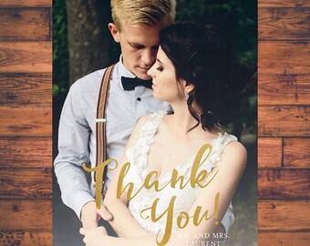Wedding Thank You Card Photo Card Thank You Postcard Thank you Cards Photo Notecard Digital Printable thx_05