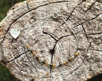 Tiny Beads Friendship Bracelet - Thin chain bracelet - Bridesmaid Jewelry - Boho Chic Jewelry