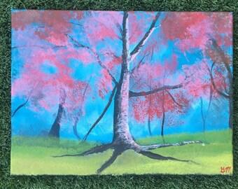 Cherry Blossom 12x16 acrylic on canvas